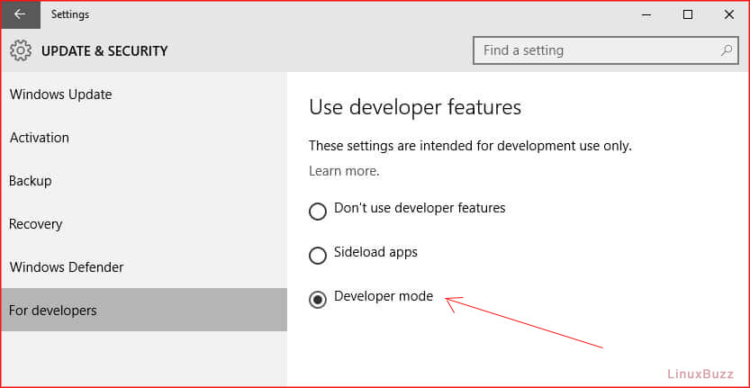 Developer-Mode-Windows10