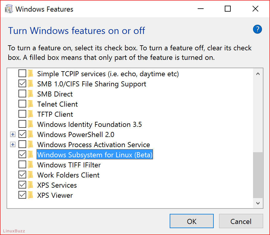 Windows-Subsystem-for-Linux-option-windows10