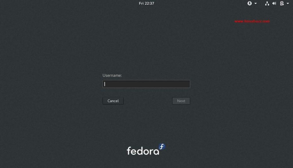 Fedora27-GDM-Login
