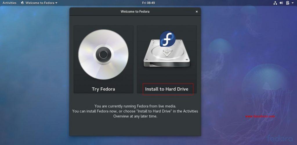 Install-Harddrive-Fedora27