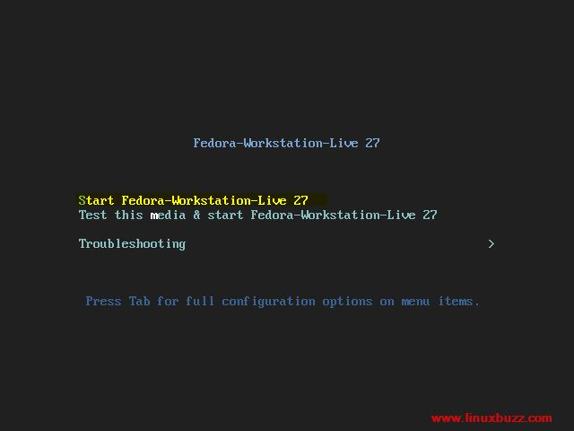 Start-Fedora27-Workstation