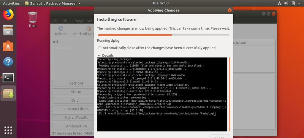 Applying-Adobe-Flash-Player-synaptic