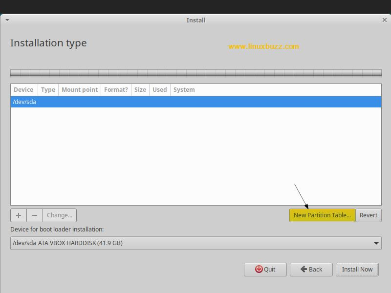 New-Partition-Table-Xbuntu18-04
