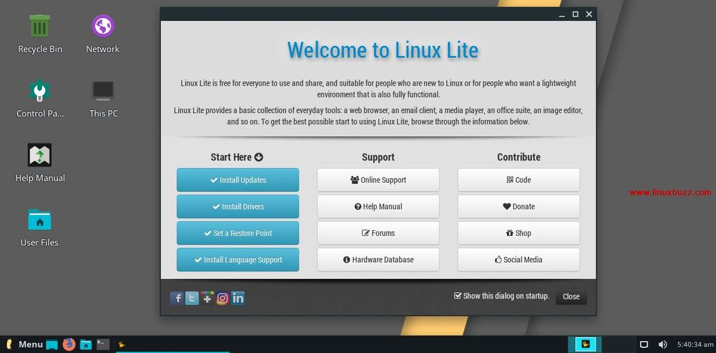 Linux-Lite4-Desktop-Screen
