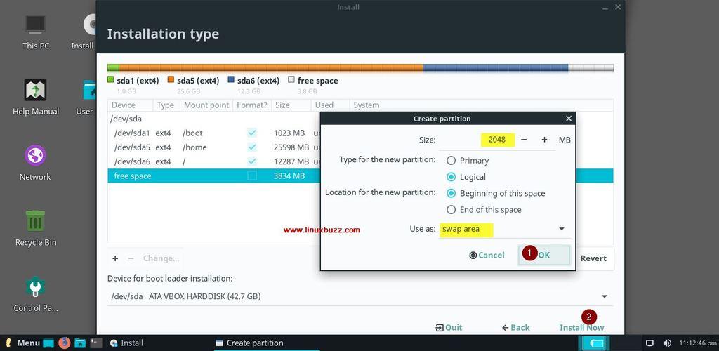 Swap-Partition-Linux-Lite-4-Installation