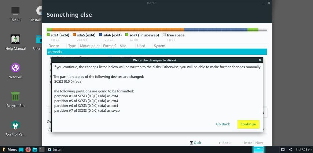 Write-Changes-Disk-Linux-Lite4-Installation