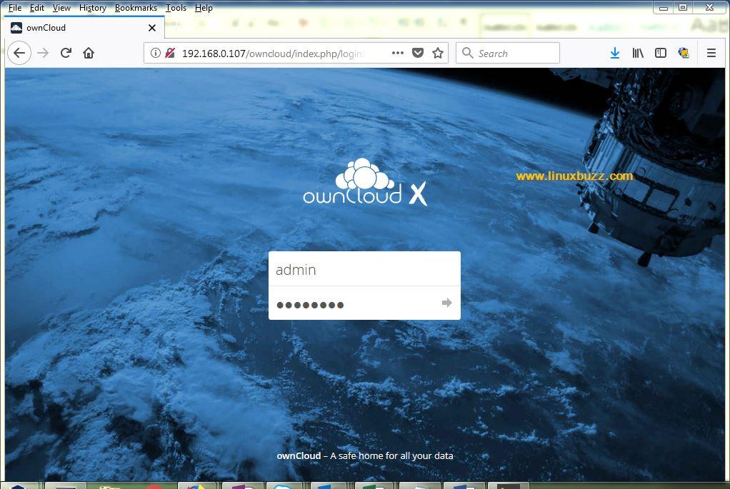 ownCloud-Login-Page-CentOS7