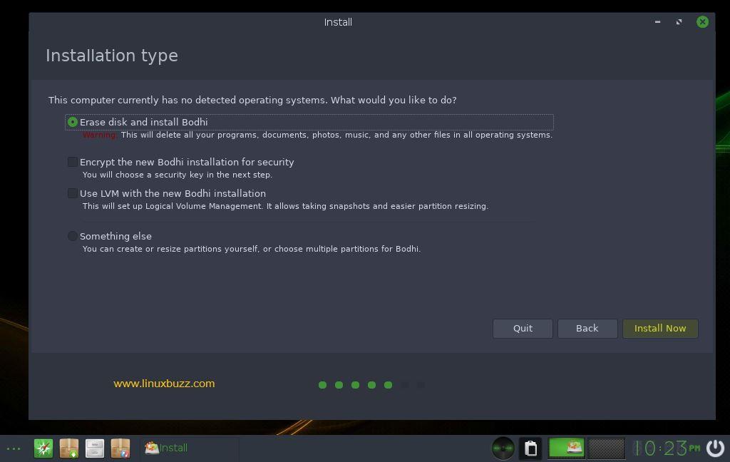 Installation-type-bodhi-linux-installation