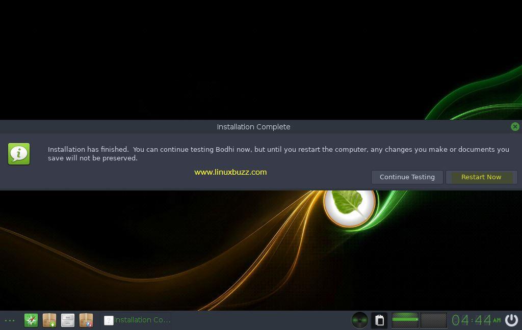 Reboot-Bodhi-Linux-Installation