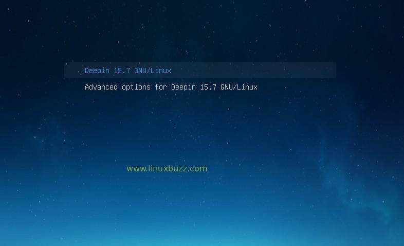 Bootloader-GrubScreen-Deepin15