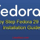 Fedora29-Server-Installation