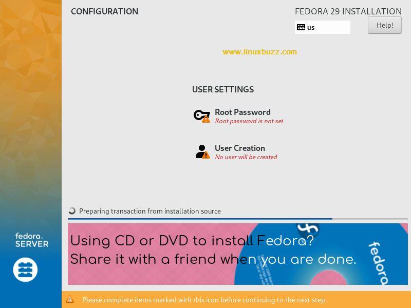 Installation-Fedora29-Started
