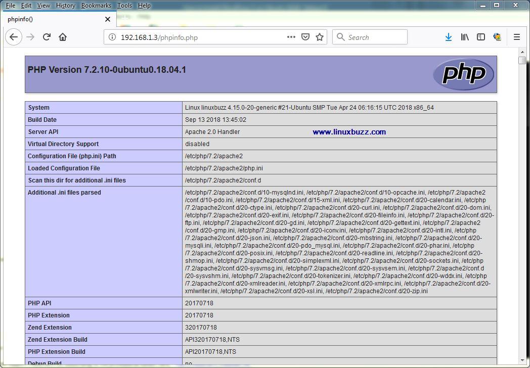 install wordpress ubuntu 18.04 apache2