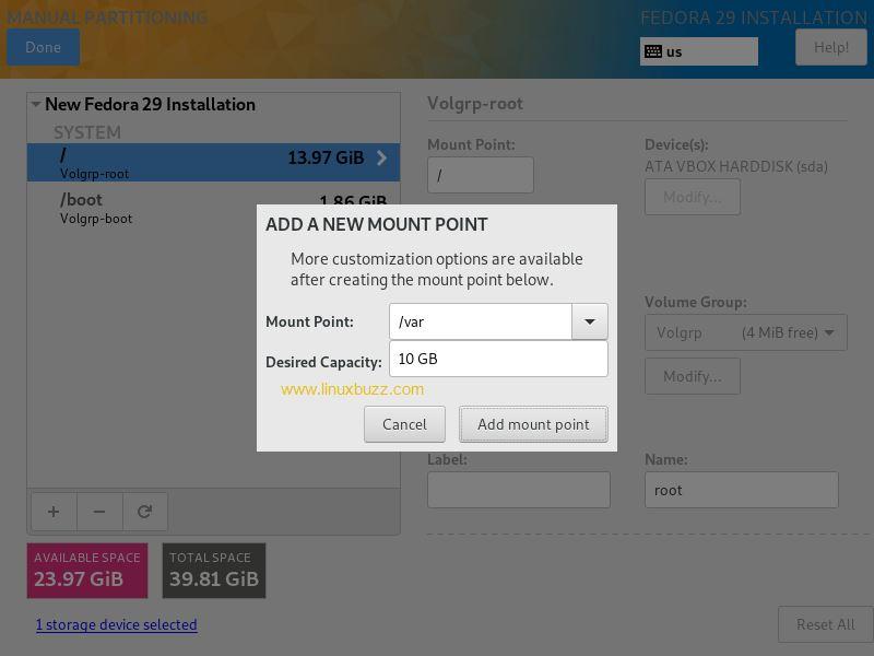 var-partition-creattion-Fedora29