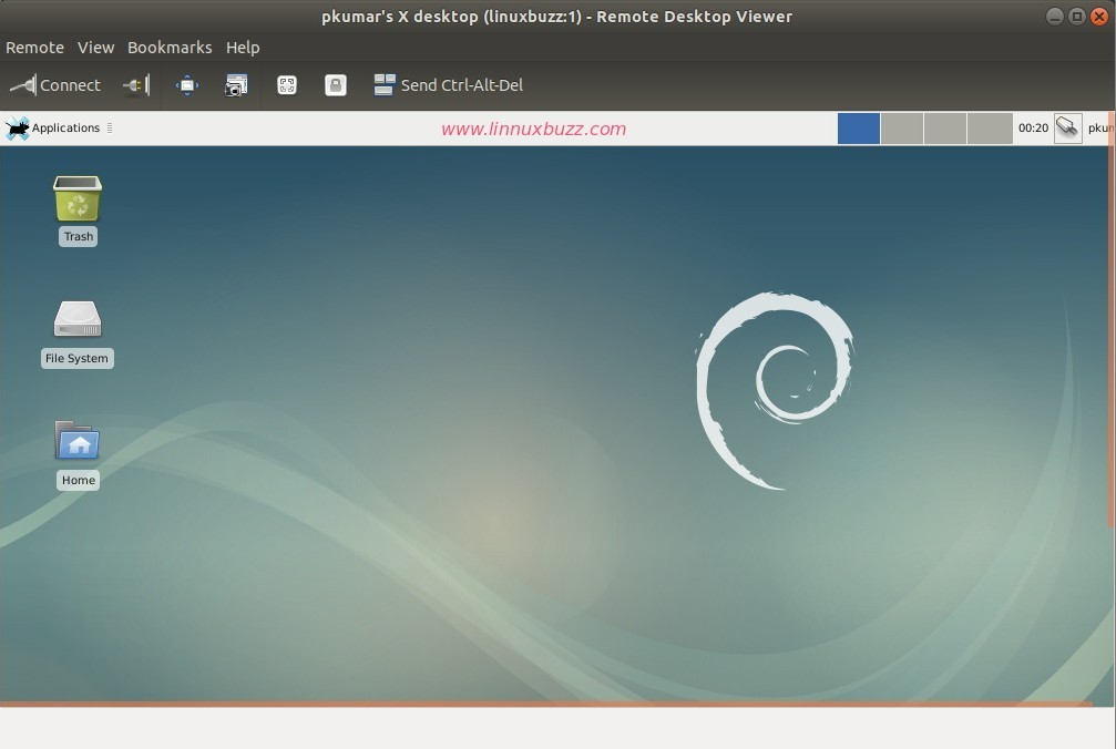 Remote-desktop-vnc-session-debian9