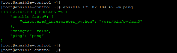 Ansible-ping-specific-host