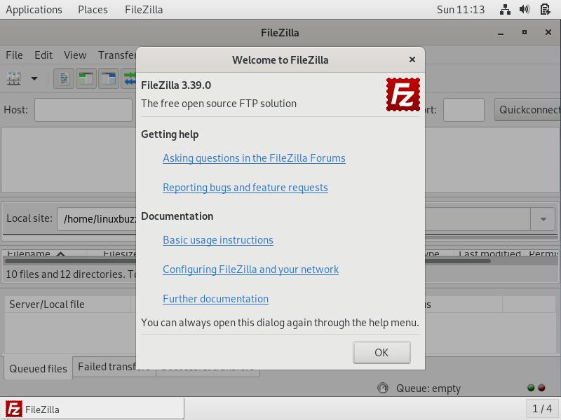 FileZilla-Welcome-Debain10