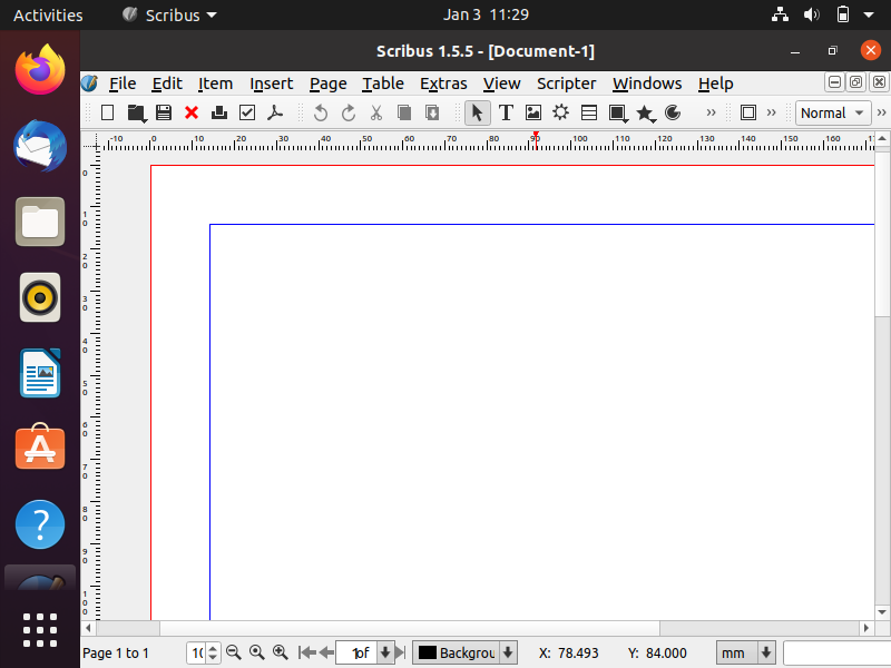Blank-Single-page-scribus-document