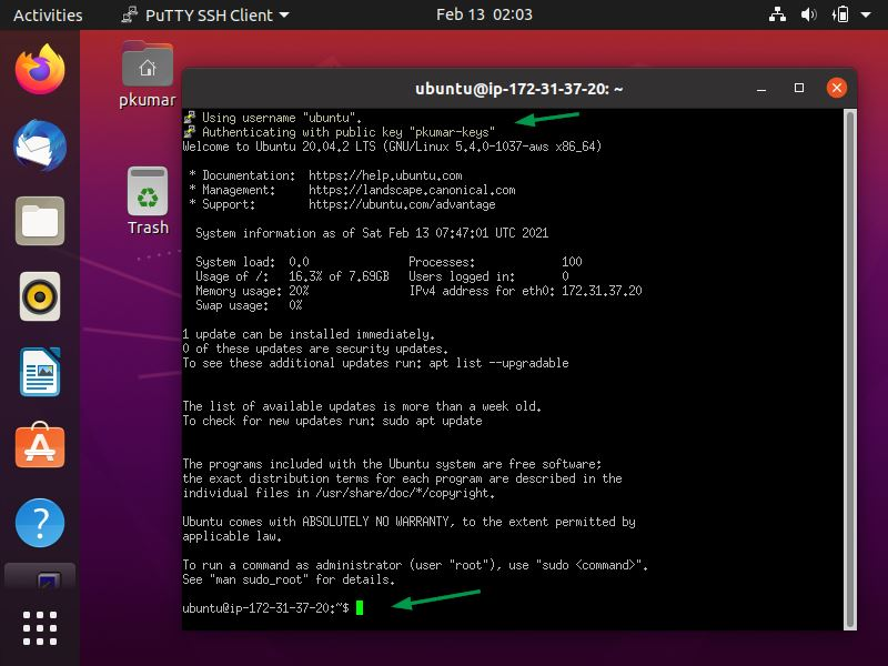 Connect-PublicCloud-Linux-Server-PPK-Keys-Putty