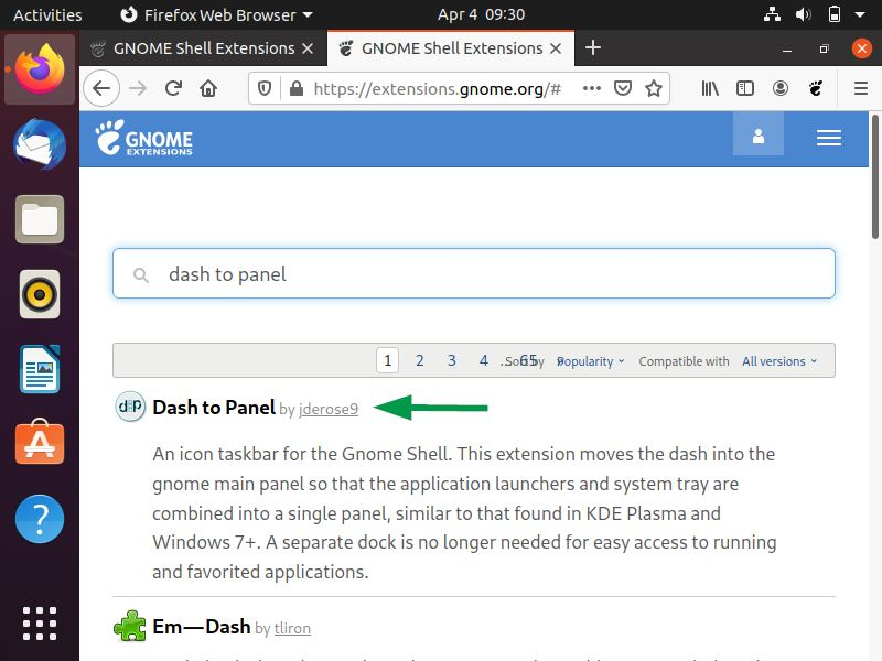 Dash-to-Panel-extension