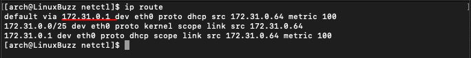 Check-Default-Gateway-ArchLinux
