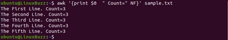 Count-Number-of-Fields-AWK-Command