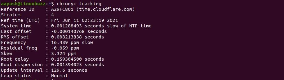 Chrony-track-linux