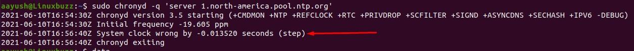 Testing-Chrony-Linux