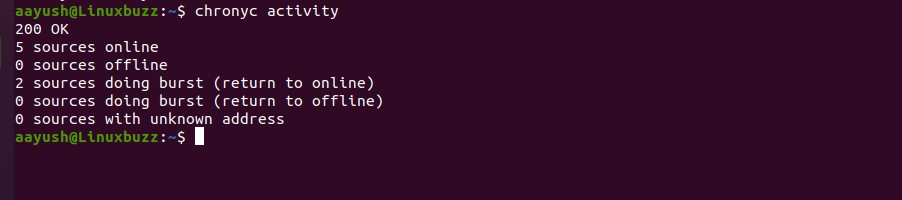 chrony-activity-linux