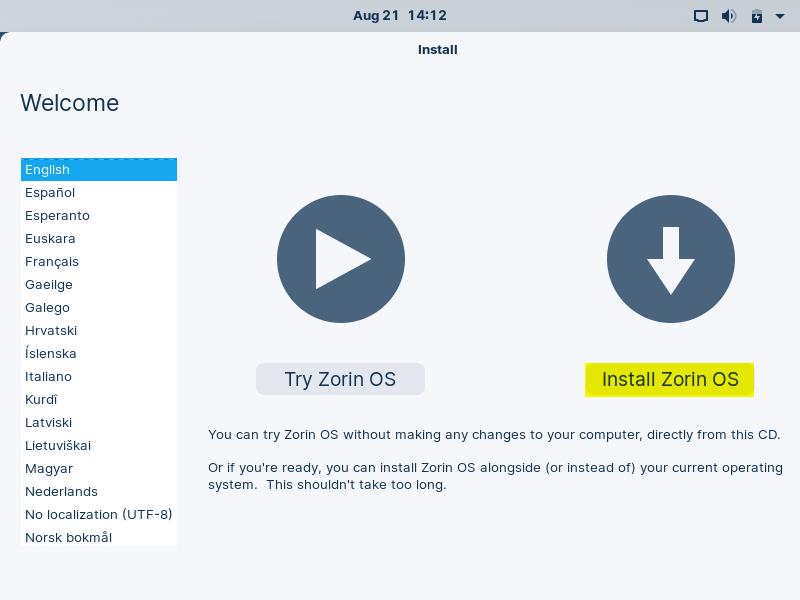 Choose-Install-Zorin-OS16