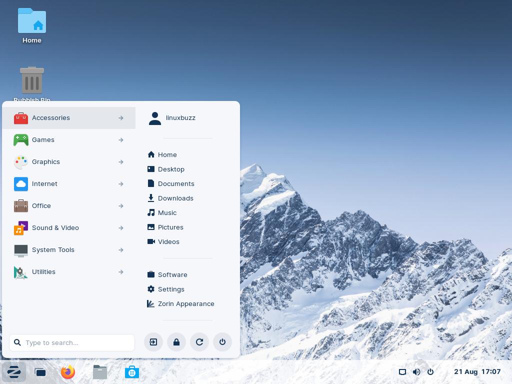Zorin-OS16-Desktop-Enviornment