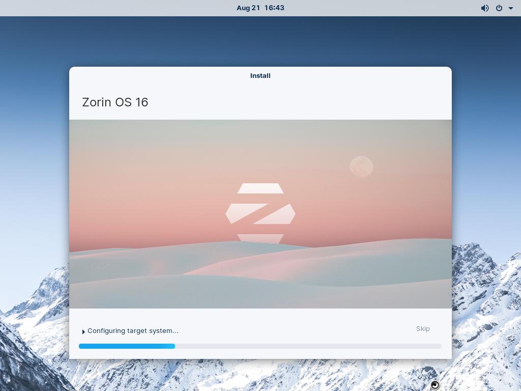 Zorin-OS16-Installation-Progress