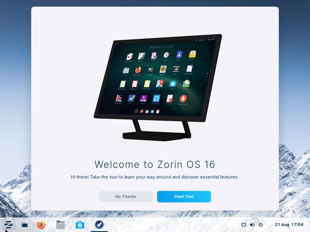 Zorin-OS16-Welcome-Screen