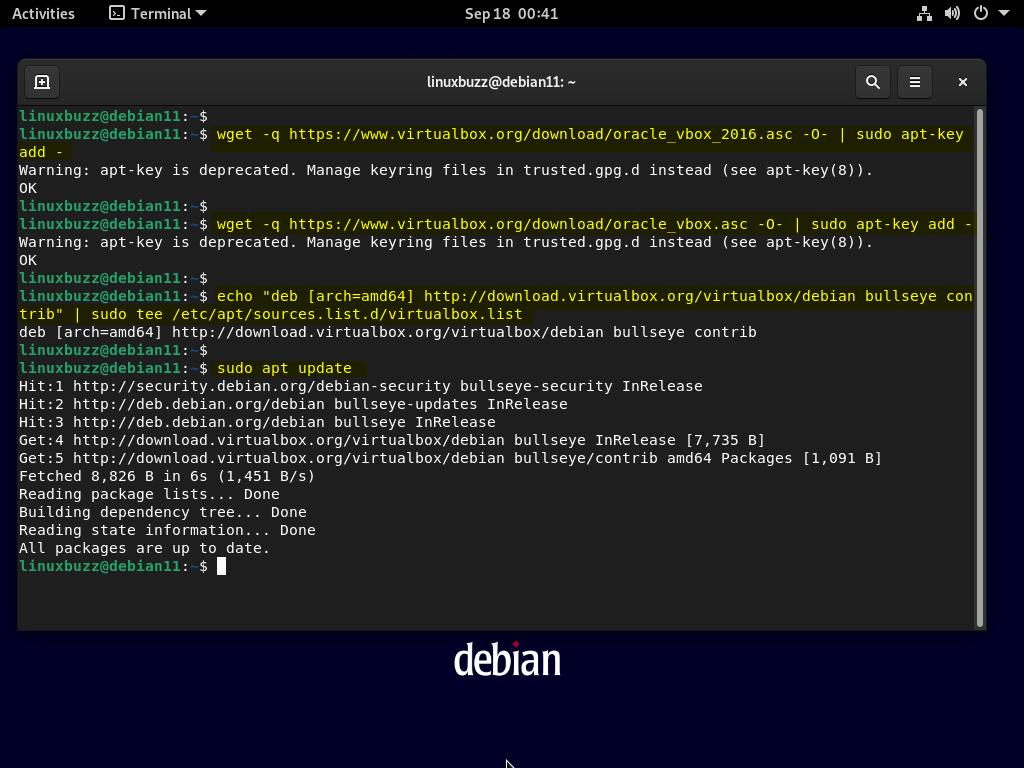 Configure-VirtualBox-Repository-Debian11