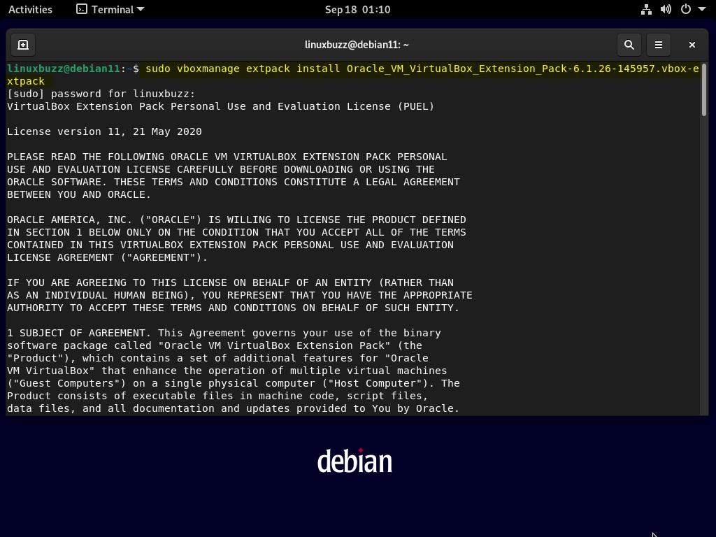 Extension-Pack-VirtualBox-Debian11